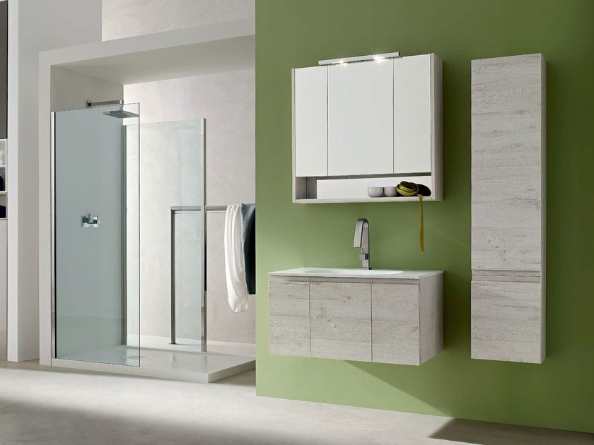 Wooden bathroom cabinet / vanity unit E.LY - COMPOSITION 39 - Arcom