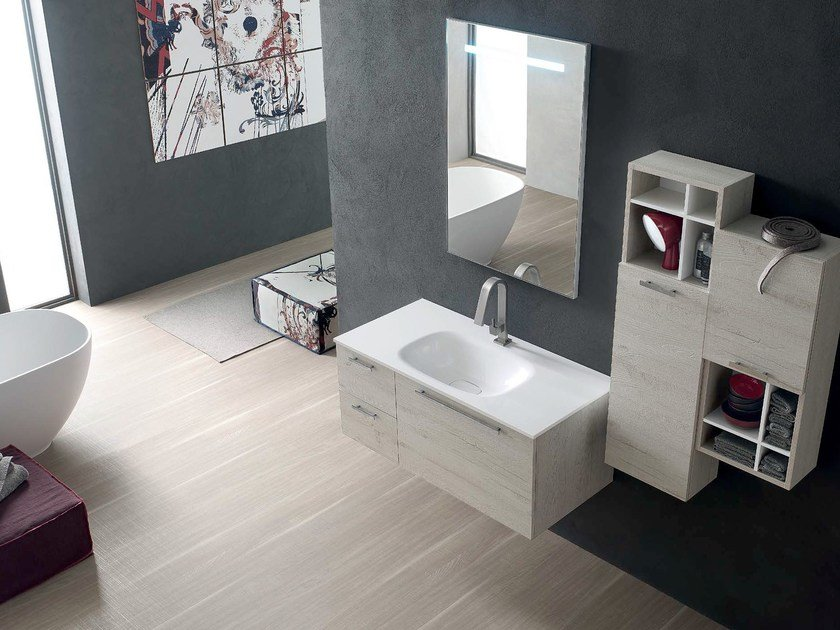 Wooden bathroom cabinet / vanity unit E.LY - COMPOSITION 41 - Arcom