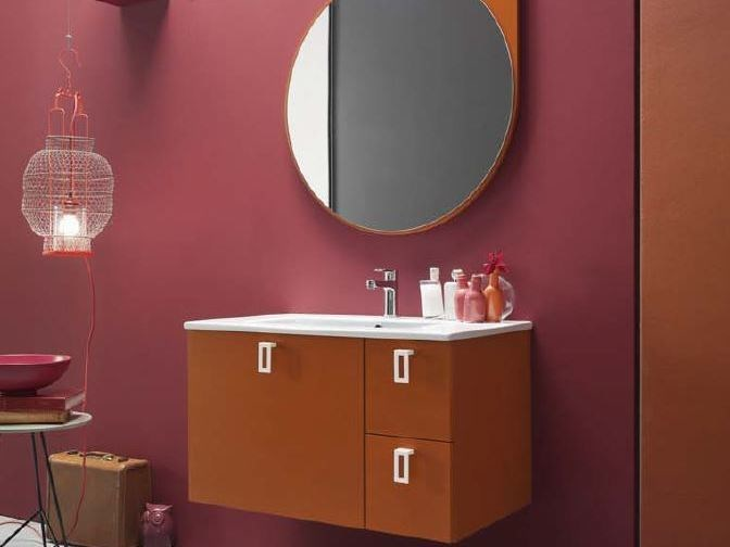 Lacquered single vanity unit E.LY - COMPOSITION 52 - Arcom