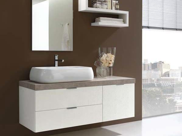 Single ash vanity unit E.LY - COMPOSITION 9 - Arcom