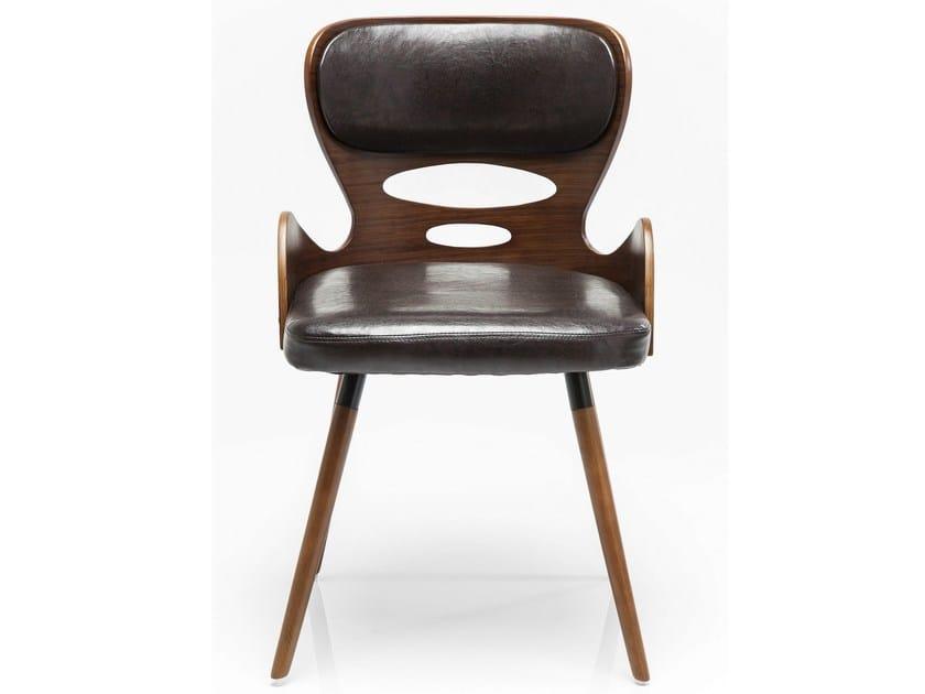 Upholstered wood veneer chair EAST SIDE WOOD - KARE-DESIGN