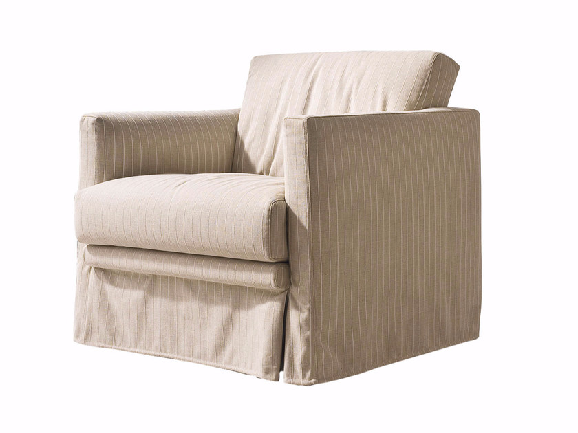 Fabric armchair with removable cover EASY | Armchair by CTS SALOTTI
