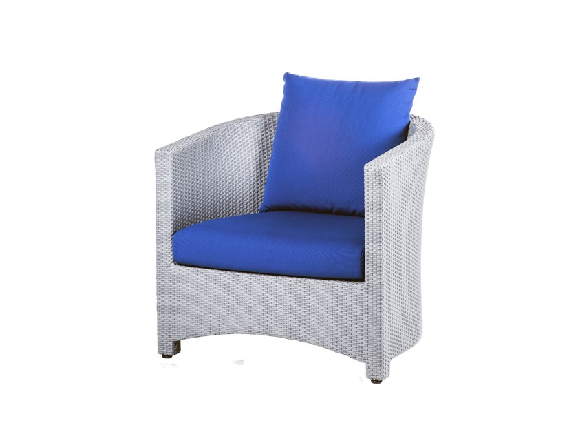 Garden armchair with armrests BAY | Easy chair - 7OCEANS DESIGNS