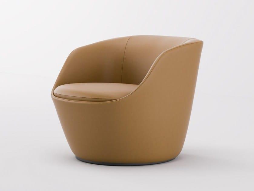 Leather easy chair RADAR   Easy chair by Emmegi