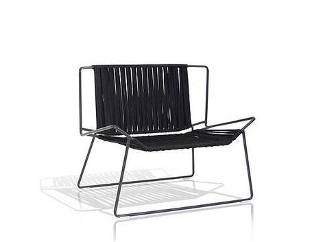 Polyester garden armchair OUT_LINE | Easy chair by EXPORMIM