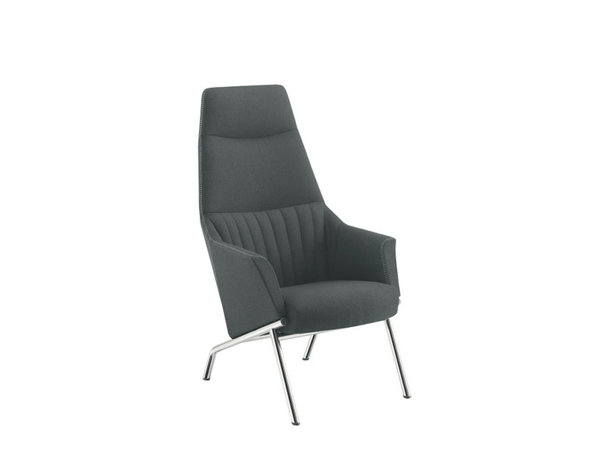 Guest chair high-back DAMA LOUNGE STRIP | Easy chair high-back - Sesta