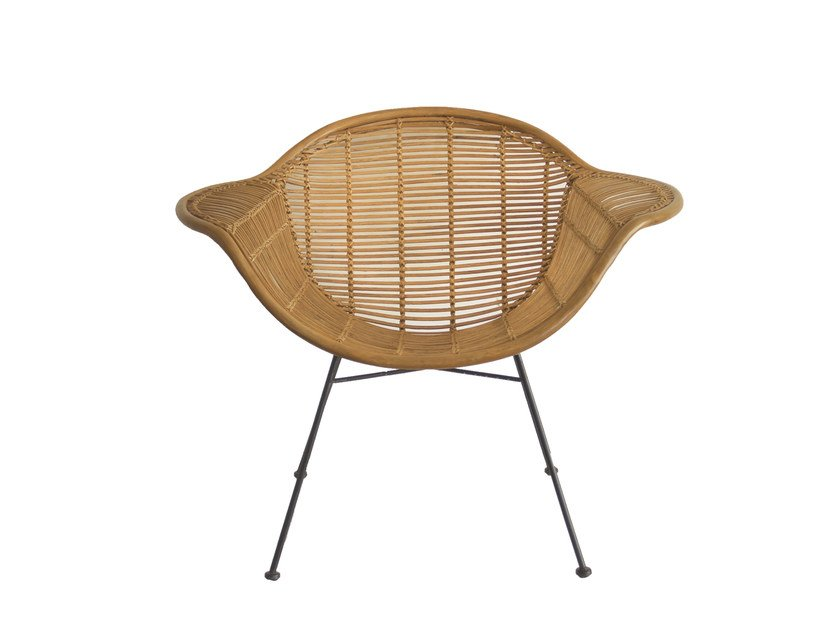 Rattan easy chair with armrests VINTAGE | Easy chair by CFOC
