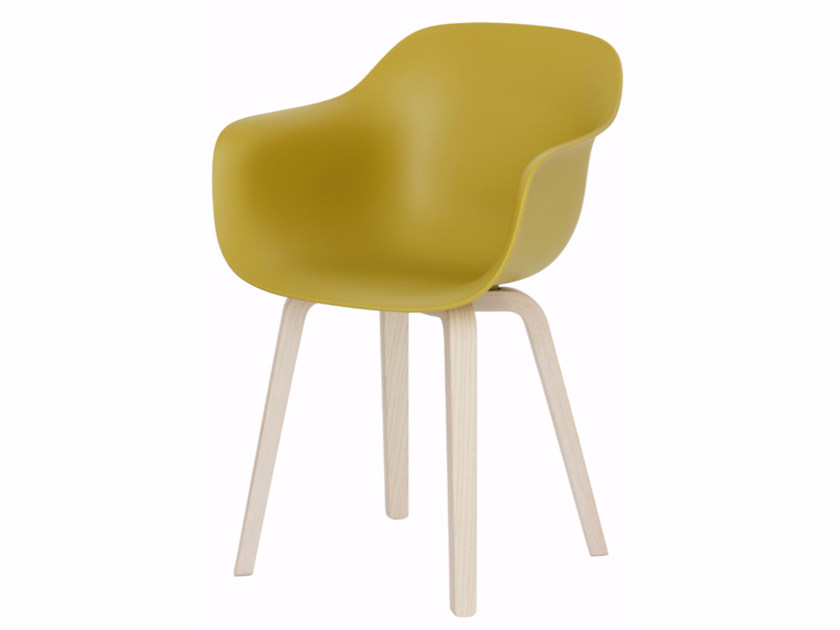 Polypropylene chair with armrests SUBSTANCE | Chair with armrests - Magis