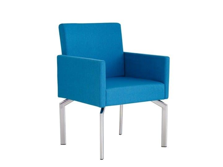 Poltroncina in tessuto con braccioli 2TALK | Poltroncina - SMV Sitz- und Objektmöbel