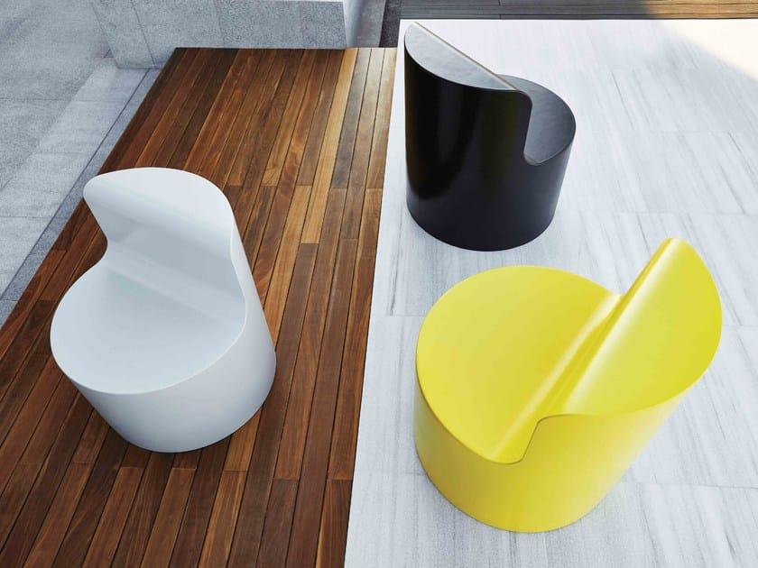 Coated foam easy chair EASY   Easy chair - Stratta