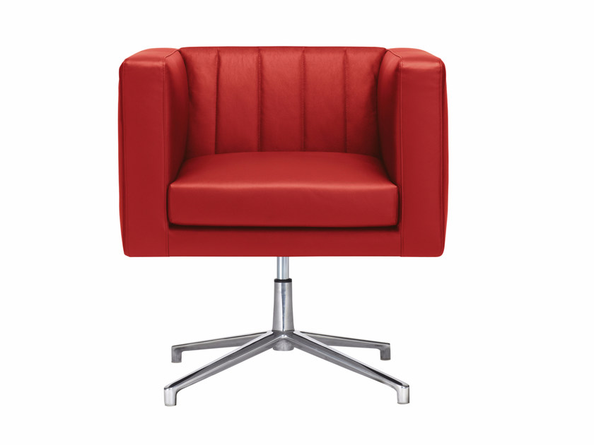 Swivel upholstered easy chair with 4-spoke base YOU3 | Easy chair with 4-spoke base by Luxy