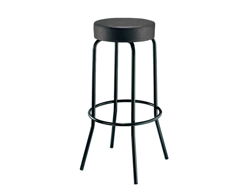 High upholstered stool EASY | High stool - Mara