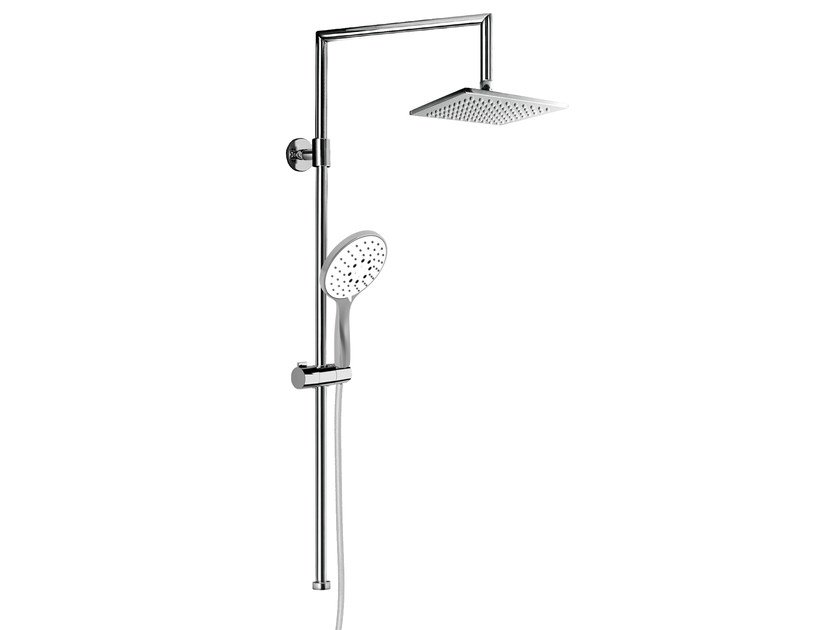 Wall-mounted shower panel with overhead shower EASY SHOWERS - 1411336 - Fir Italia