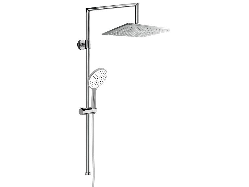 Wall-mounted shower panel with overhead shower EASY SHOWERS - 1411376 - Fir Italia