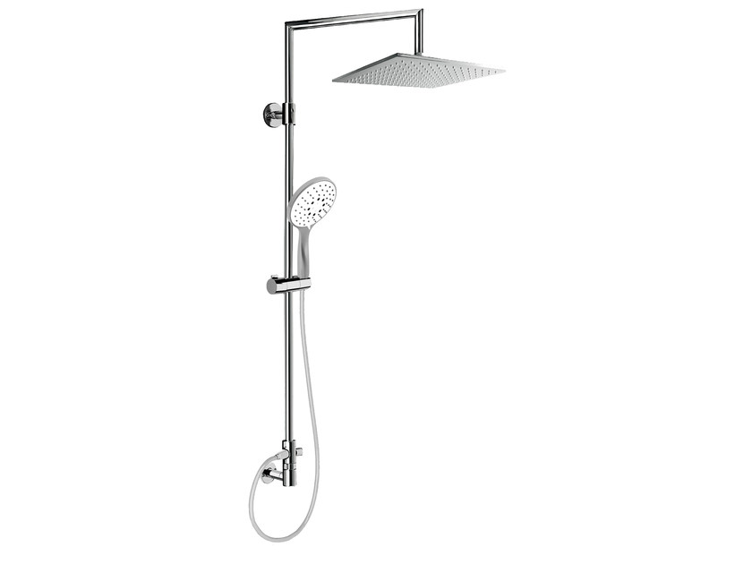 Wall-mounted shower panel with overhead shower EASY SHOWERS - 1431376 - Fir Italia