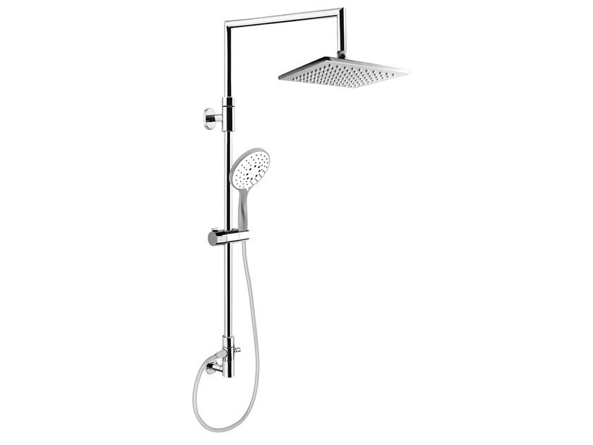 Wall-mounted shower panel with overhead shower EASY SHOWERS - 1461336 - Fir Italia