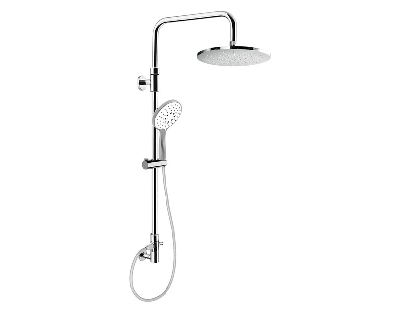 Wall-mounted shower panel with overhead shower EASY SHOWERS - 1466106 - Fir Italia