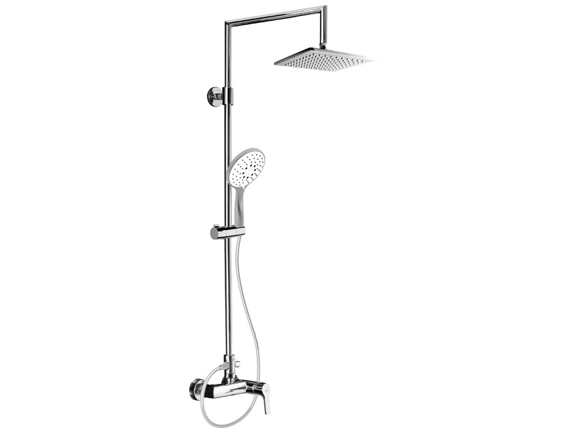 Wall-mounted shower panel with overhead shower EASY SHOWERS - 4262336 - Fir Italia