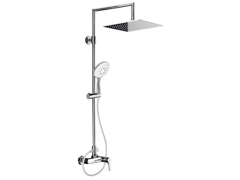 Wall-mounted shower panel with overhead shower EASY SHOWERS - 4262376 - Fir Italia