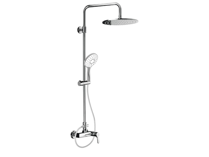 Wall-mounted shower panel with overhead shower EASY SHOWERS - 4362126 - Fir Italia
