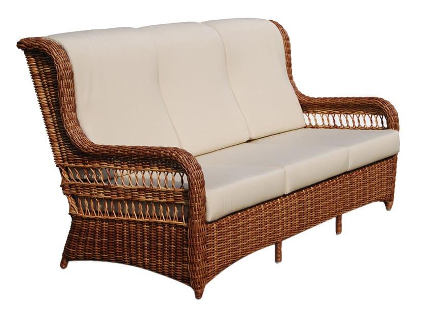 Divano da giardino a 3 posti con schienale alto EBONY 22003 - SKYLINE design