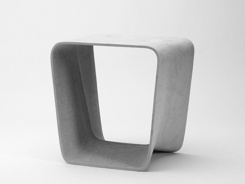 Low cement garden stool ECAL | Stool by SWISSPEARL Italia
