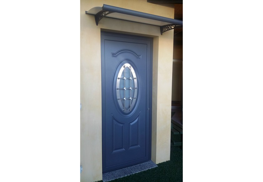 Glass and aluminium door panel ECHO/X1 by ROYAL PAT