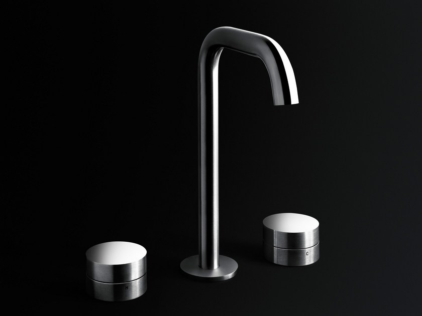 3 hole stainless steel washbasin mixer ECLIPSE | 3 hole washbasin mixer by Boffi