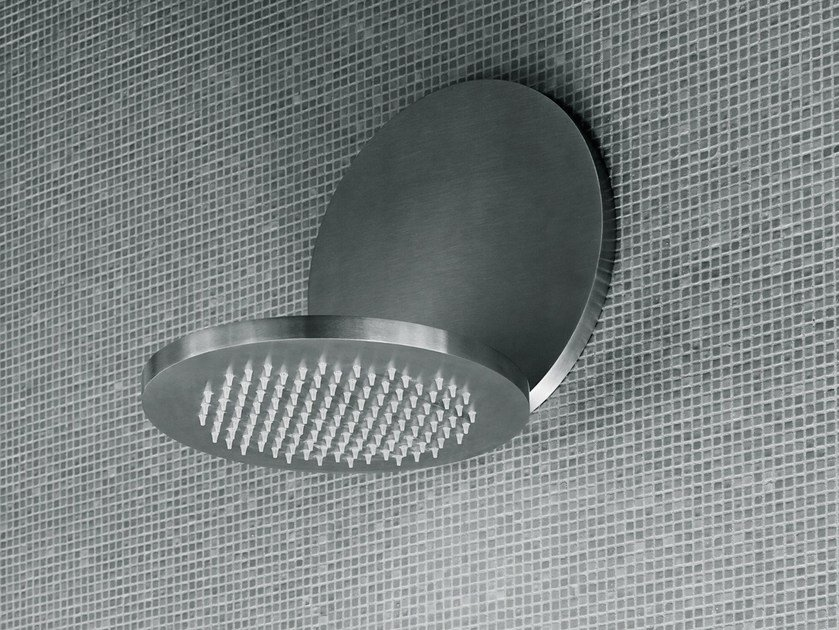 Stainless steel rain shower ECLIPSE | Overhead shower by Boffi