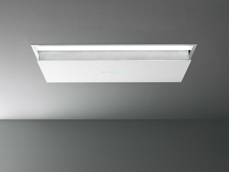 Ceiling-mounted glass and steel cooker hood ECLISSE - Falmec