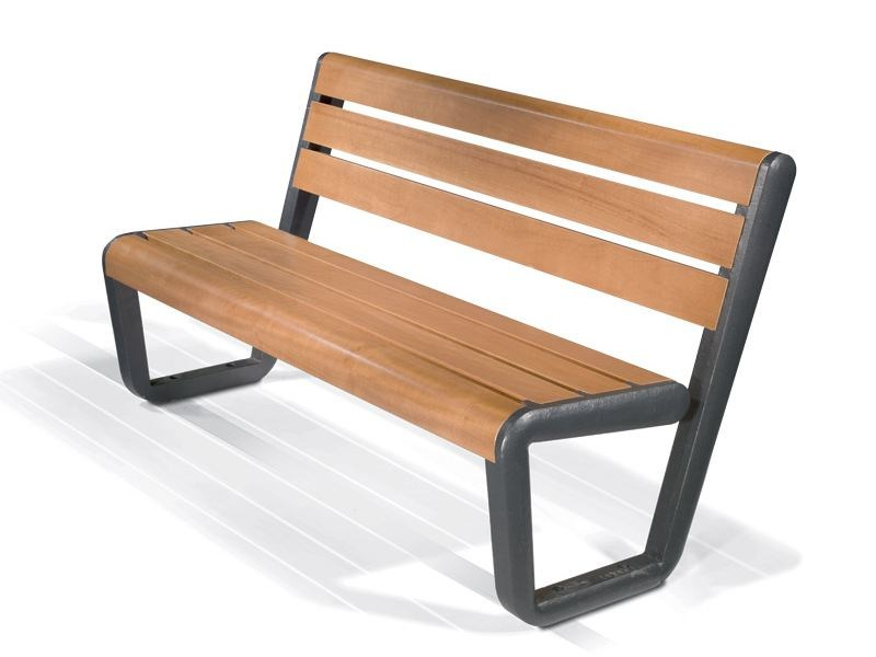 Bench with back ECO BENCH - LAB23