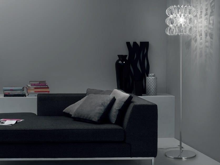 Direct light blown glass floor lamp ECOS PT - Vetreria Vistosi