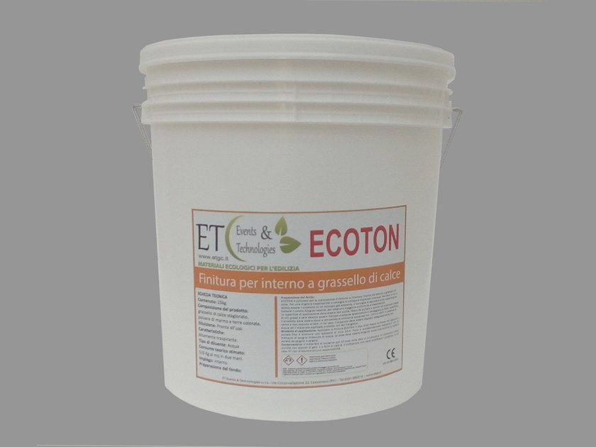 Internal finish made up of lime putty and marble powders ECOTON by ET Events & Technologies