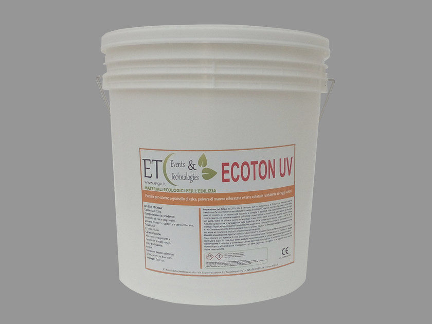 Finish for exterior with slaked lime resistant to sunlight ECOTON UV by ET Events & Technologies