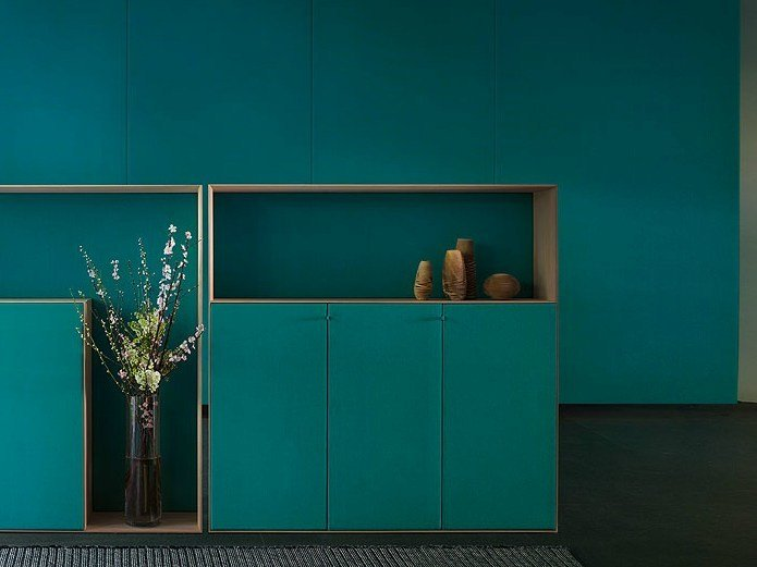 Wooden highboard with doors EDEL | Wooden highboard - Paola Lenti