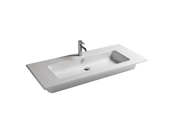 Rectangular ceramic washbasin EDEN - 121 CM - GALASSIA