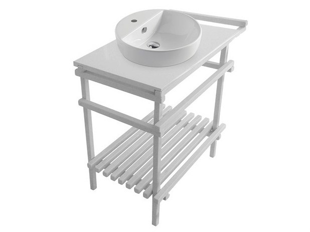 Lacquered console sink EDEN - 7234 - GALASSIA