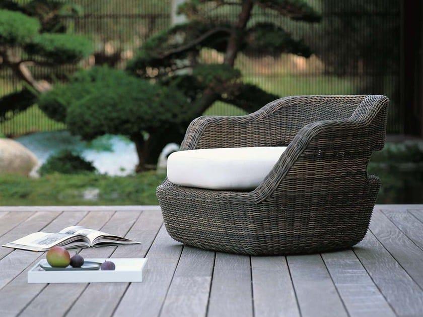 Garden armchair with armrests EDEN   Garden armchair by Unopiù
