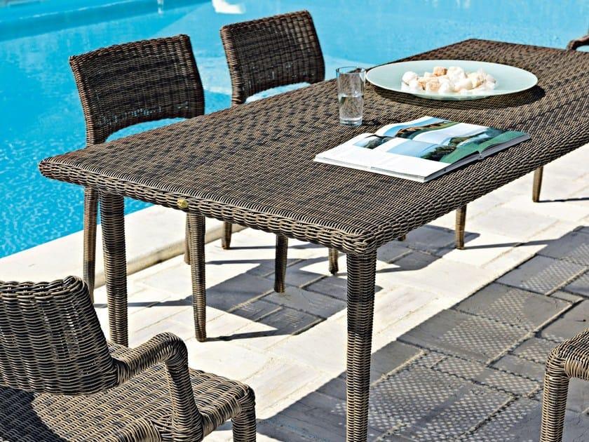 Rectangular garden table EDEN | Garden table by Unopiù
