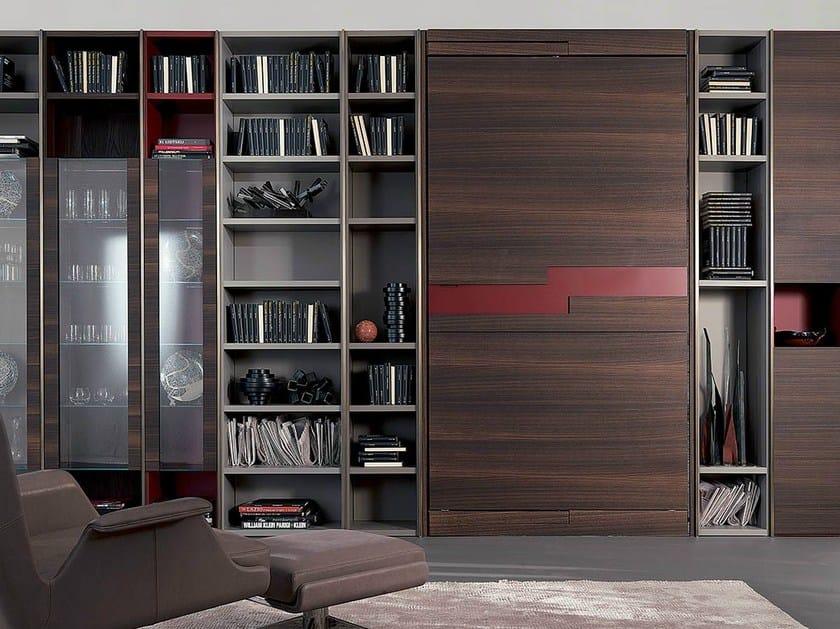 Libreria a parete autoportante con porta tv edis 1 fimar for Libreria velux