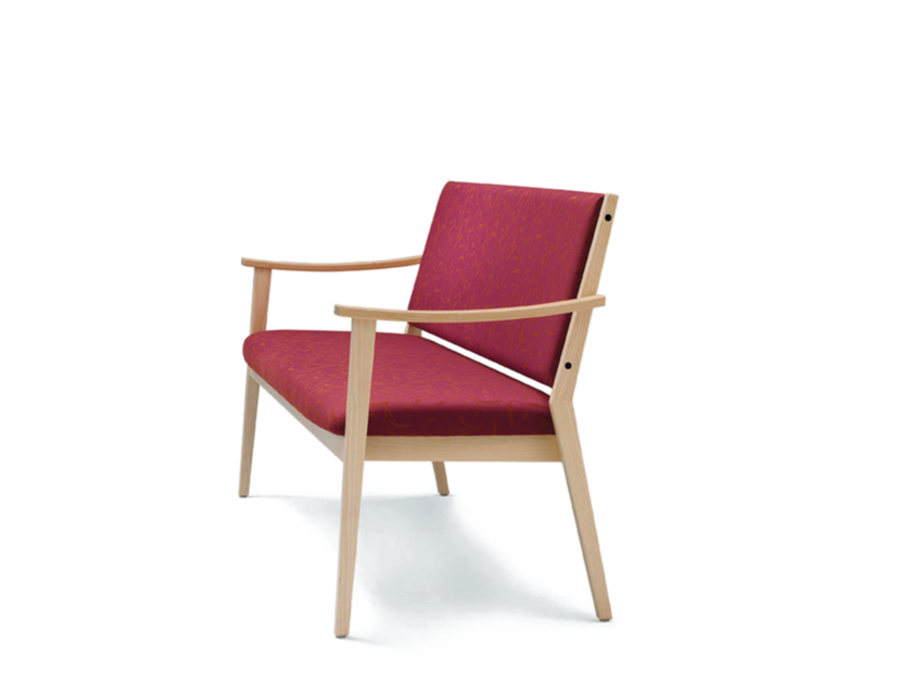 Fabric bench with back with armrests EDWARD | Bench - Wiesner-Hager