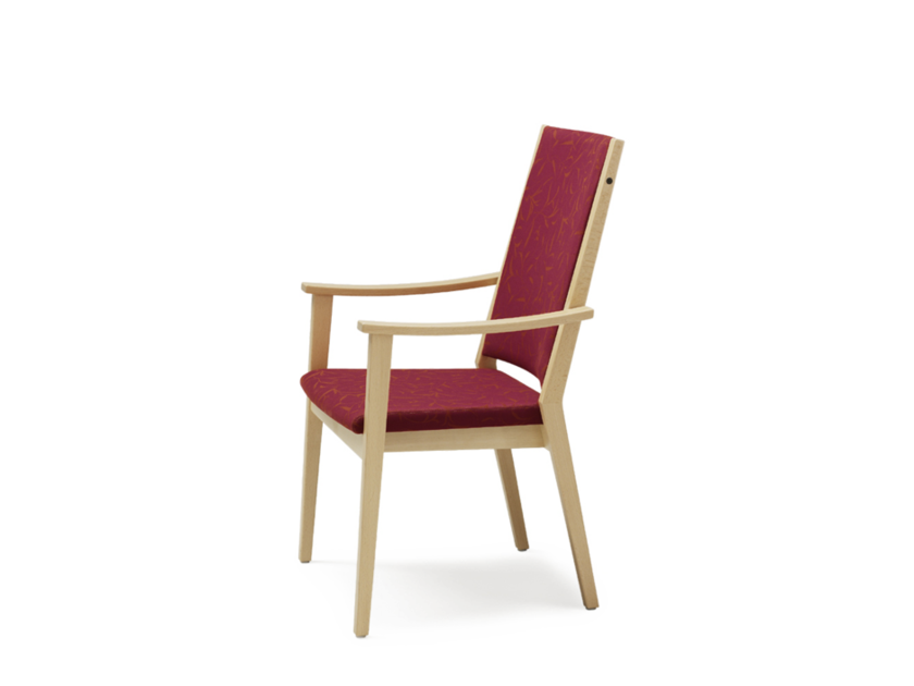 High-back fabric chair with armrests EDWARD | High-back chair - Wiesner-Hager