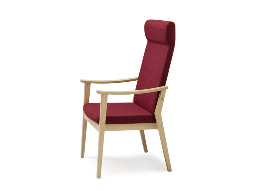 Sedia in tessuto con braccioli con schienale alto EDWARD | Sedia reclinabile - Wiesner-Hager