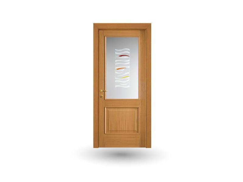 Hinged wood and glass door EFFIGIES 61V1 ROVERE MIELE - GD DORIGO