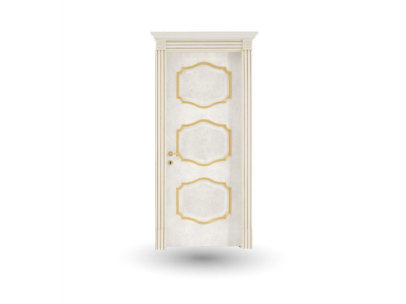 Hinged wooden door EFFIGIES 88 BOEMIA BIANCO/ORO - GD DORIGO