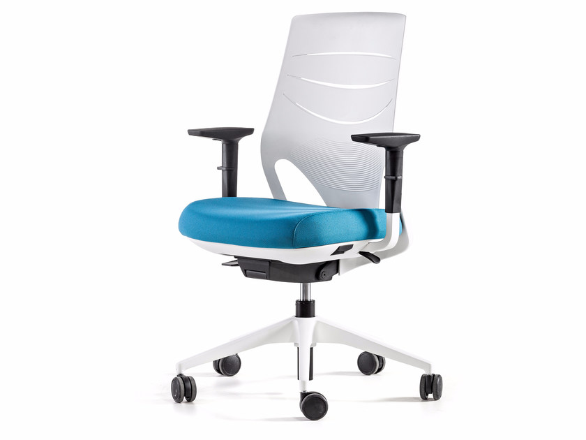 Height-adjustable swivel task chair with 5-Spoke base EFIT   Task chair with armrests by ACTIU