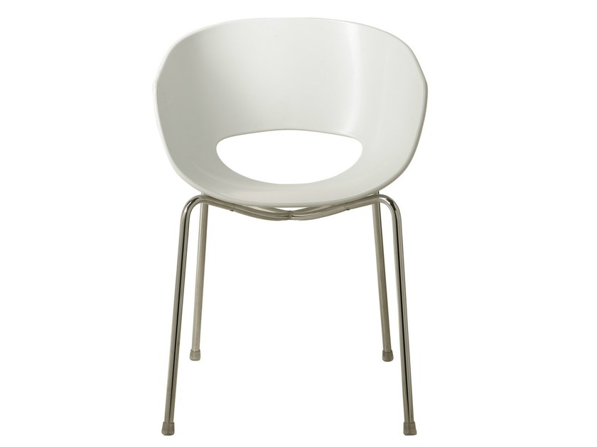Open back technopolymer chair EGGSHELL - KARE-DESIGN