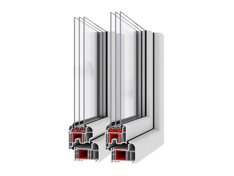 Plastic casement window EKOSUN 6 by EKO-OKNA