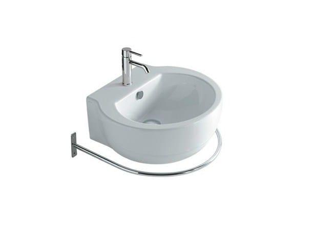 Wall-mounted ceramic washbasin with towel rail EL1 50 | Washbasin - GALASSIA