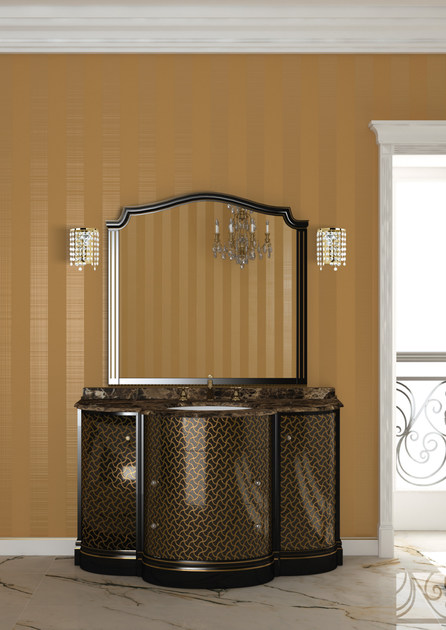 Lacquered vanity unit with mirror ELBA CM13E - LA BUSSOLA